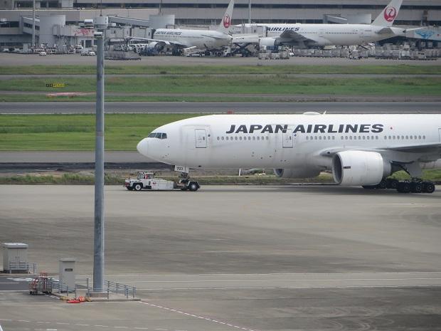 JAL機(前部分)