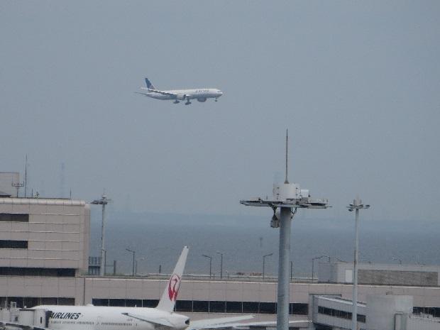 ユナイテッド航空機(着陸態勢)