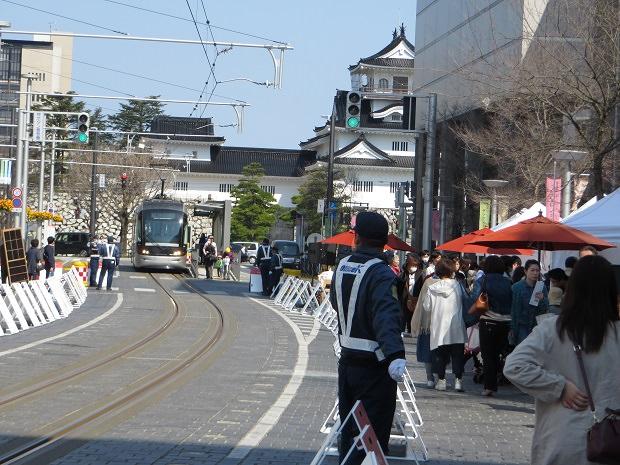 越中大手市場と富山城