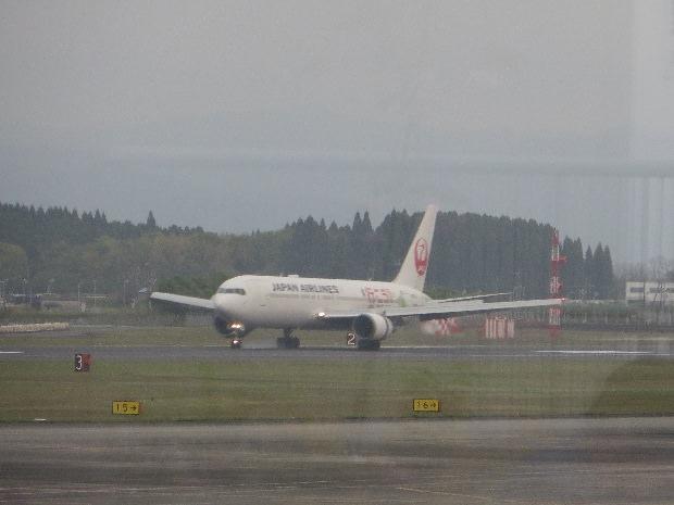 JAL機(左斜め前から)