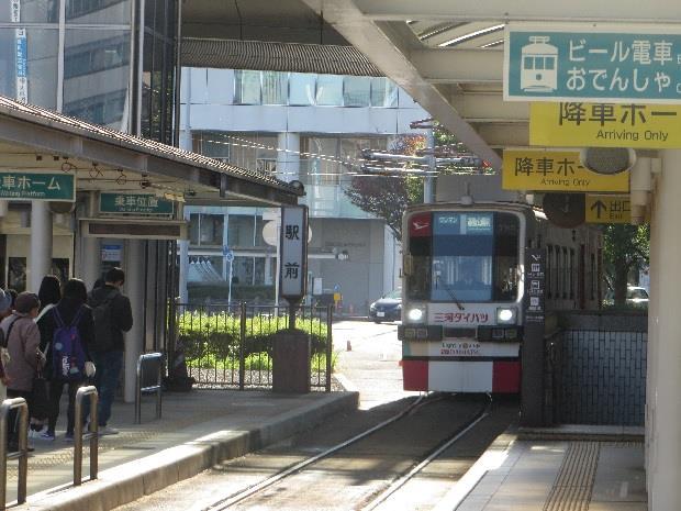 「駅前」停留所
