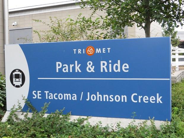 「SE Tacoma Johnson Creek」停留所のパークアンドライド