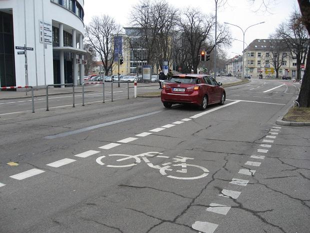 ドイツ・フライブルクの自転車レーン