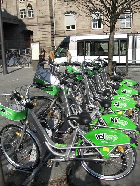 フランスのストラスブールのレンタサイクル